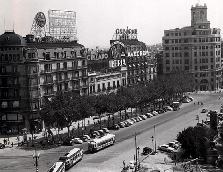 Plaza catalu a pla a catalunya la barcelona de antes - El corte ingles plaza cataluna barcelona ...