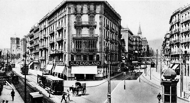Calle balmes carrer balmes la barcelona de antes for Oficinas de pelayo en barcelona